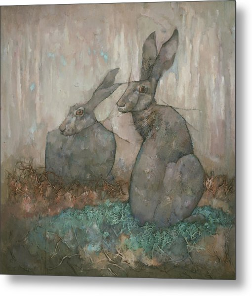 The Hare's Den Metal Print
