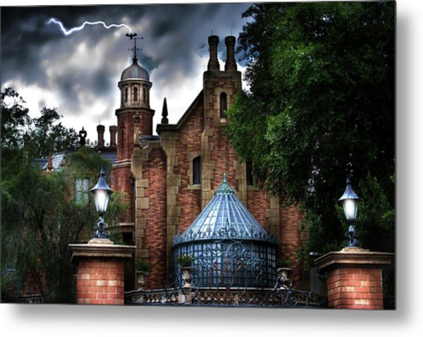 The Haunted Mansion Metal Print