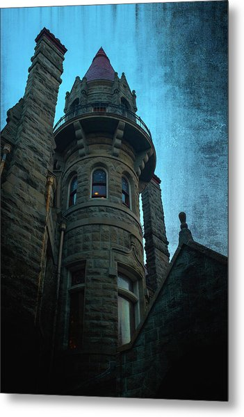 The Haunted Tower Metal Print