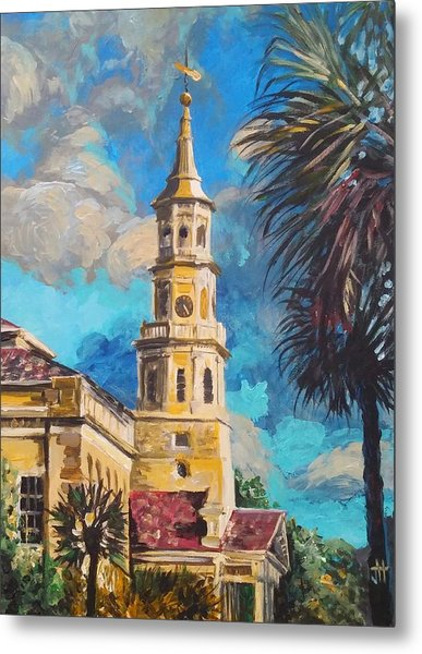 Metal Print featuring the painting The Heart Of Charleston by Jennifer Hotai