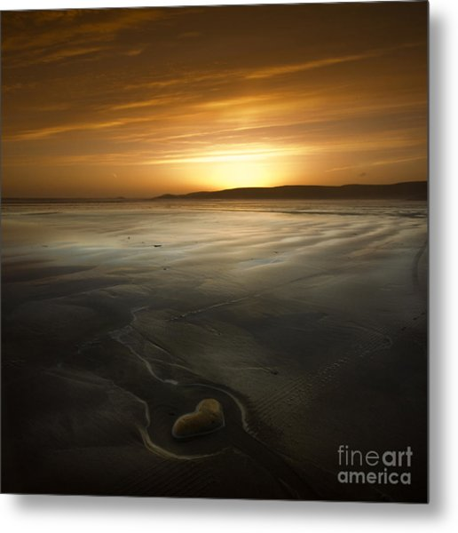 The Heart Of Stone Metal Print by Angel Ciesniarska