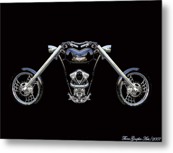 The Heart Of The Harley Metal Print by Wayne Bonney