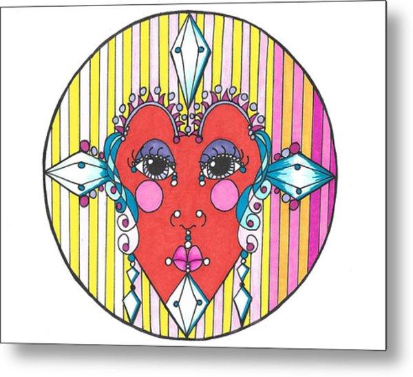 The Heart Queen Metal Print