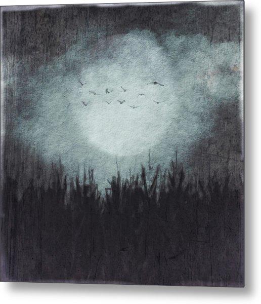 The Heavy Moon Metal Print