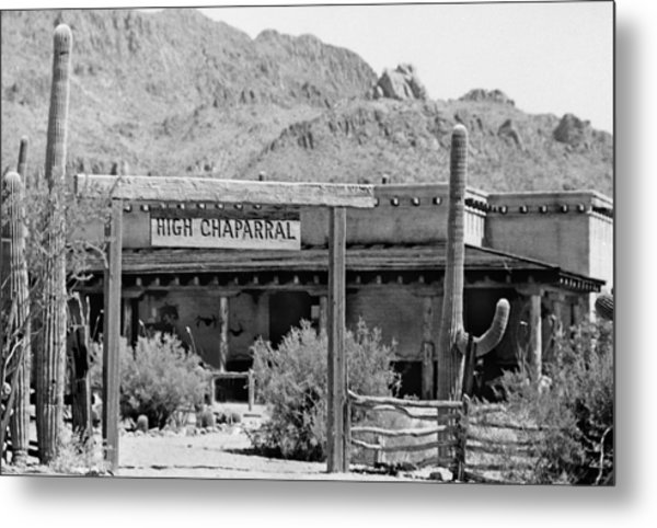 The High Chaparral Set With Sign Old Tucson Arizona 1969-2016 Metal Print