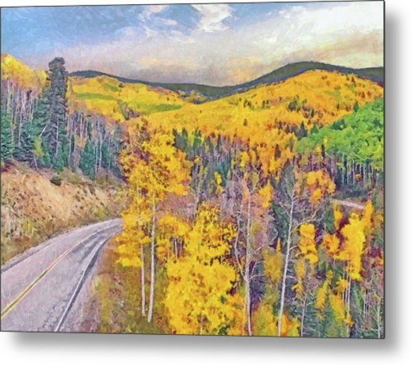 Metal Print featuring the digital art The High Road To Taos by Digital Photographic Arts