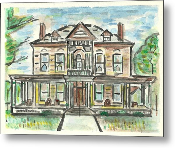 The Historic Dayton House Metal Print