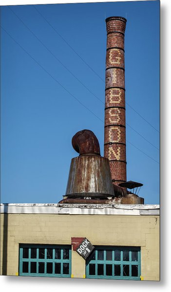 The Historic Gibson Smokestack Metal Print