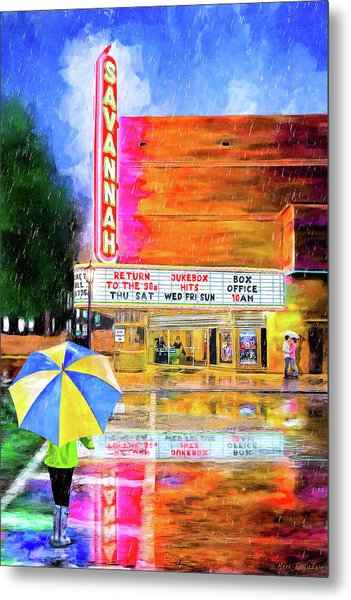 The Historic Savannah Theatre Metal Print