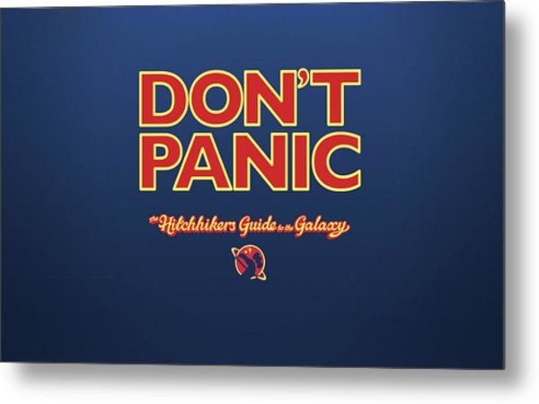 The Hitchhiker's Guide To The Galaxy Metal Print