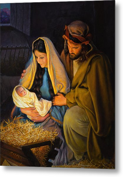 Metal Print featuring the painting The Holy Family by Greg Olsen