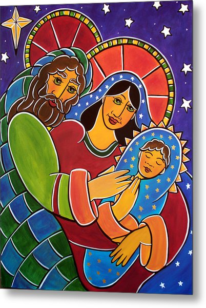 Metal Print featuring the painting The Holy Family by Jan Oliver-Schultz