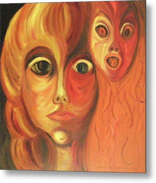 The Horror Of Living Metal Print by Suzanne  Marie Leclair