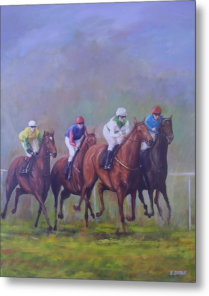 The Horse Race Metal Print by Eamon Doyle