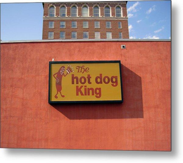 The Hot Dog King Metal Print