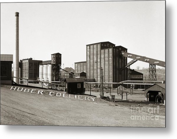 The Huber Colliery Ashley Pennsylvania 1953 Metal Print