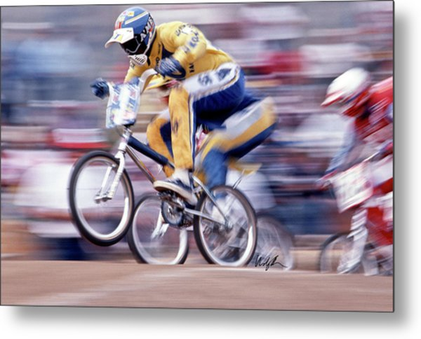 The Human Dragster, Tommy Brackens 1985 Metal Print