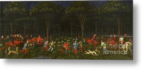 The Hunt In The Forest Metal Print