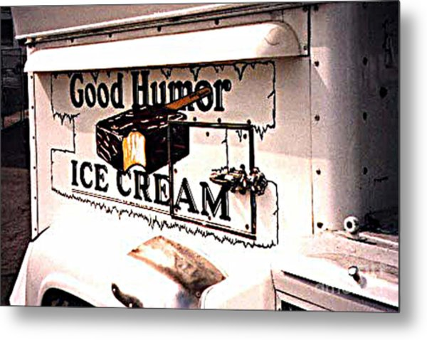 The Ice Cream Truck Is Here Metal Print