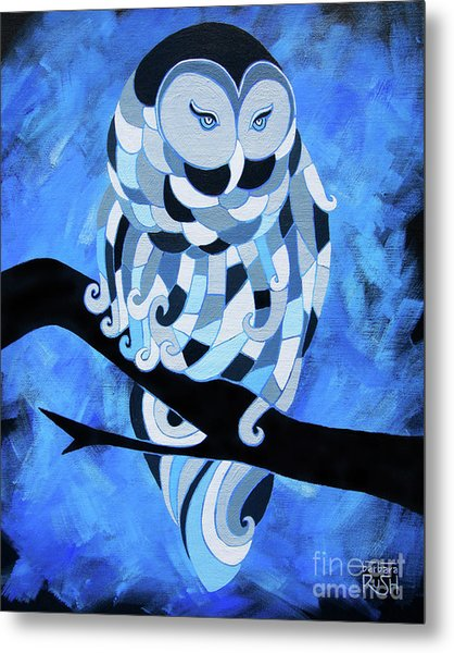 The Ice Owl Metal Print