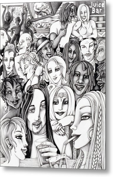 The In Crowd Metal Print