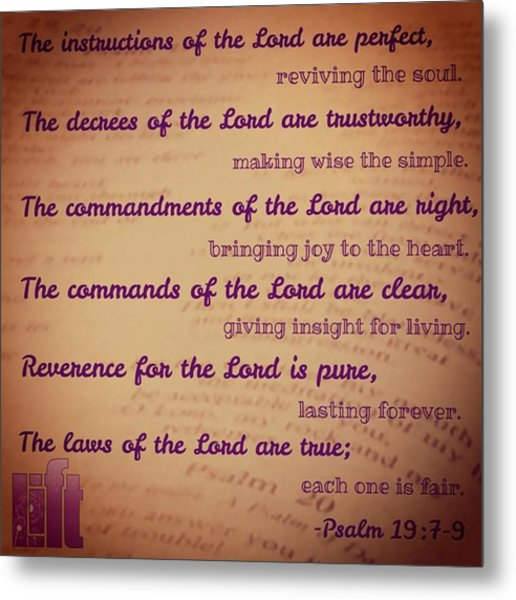 The Instructions Of The Lord Are Metal Print