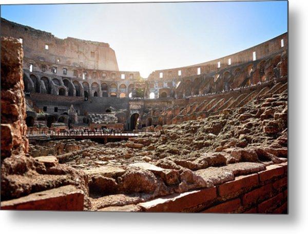 The Interior Of The Roman Coliseum Metal Print