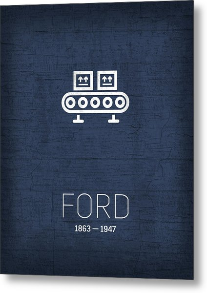 The Inventors Series 039 Henry Ford Metal Print
