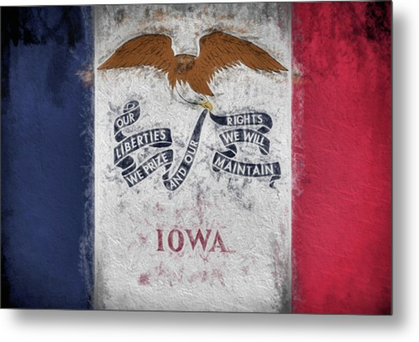 The Iowa Flag Metal Print by JC Findley