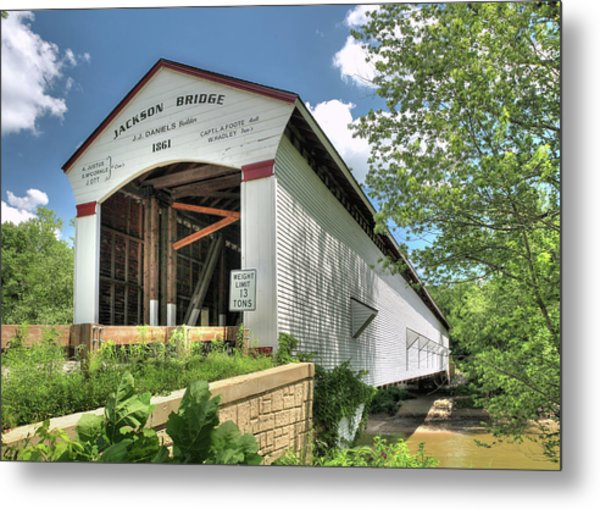 The Jackson Covered Bridge Metal Print