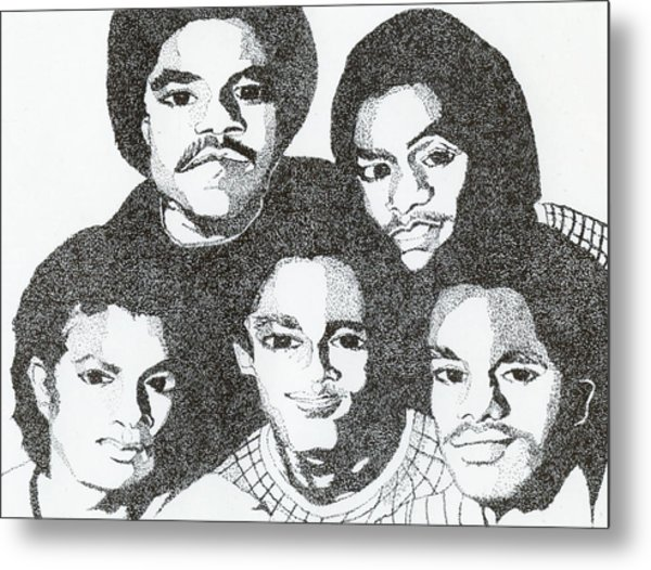 The Jacksons Tribute Metal Print
