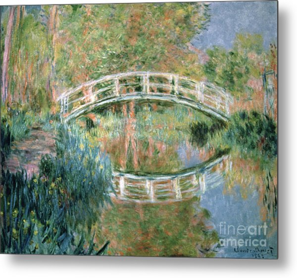 The Japanese Bridge Metal Print