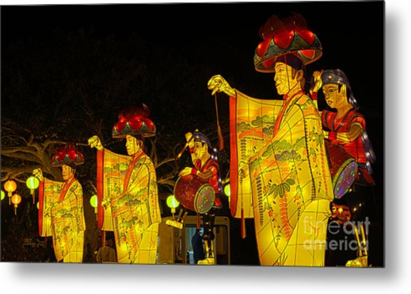 The Japanese Lantern Dancers Metal Print