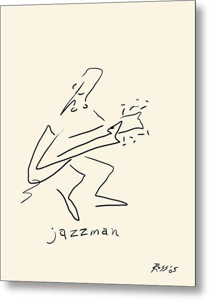 The Jazz Man Metal Print