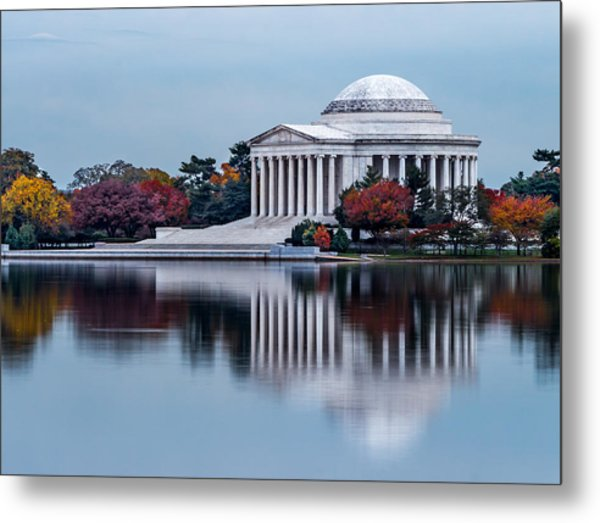 The Jefferson In Baby Blue Metal Print