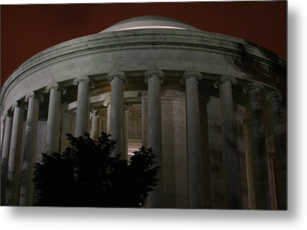 The Jefferson Memorial At Night Metal Print by Brian M Lumley