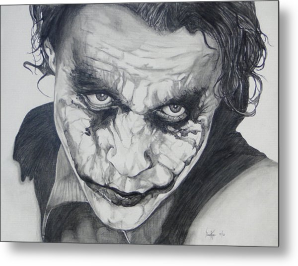 The Joker Metal Print by Stephen Sookoo