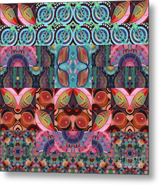 The Joy Of Design Mandala Series Puzzle 7 Arrangement 3 Metal Print