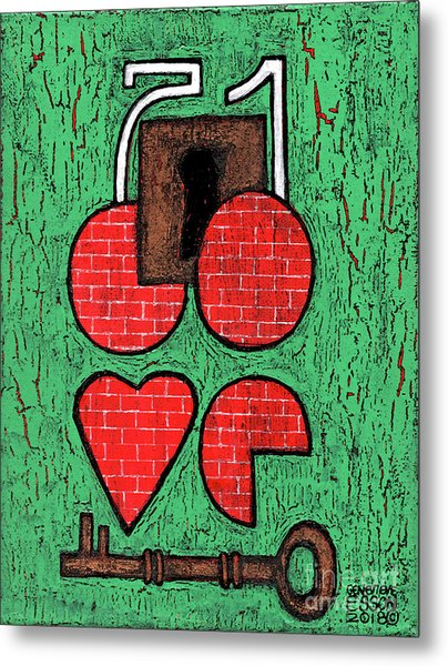 The Key To Your Heart Metal Print