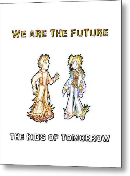 Metal Print featuring the digital art The Kids Of Tomorrow Corie And Albert by Shawn Dall