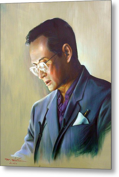 The King Of Thailand Metal Print by Chonkhet Phanwichien