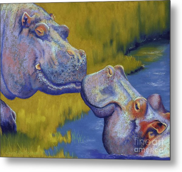 The Kiss - Hippos Metal Print