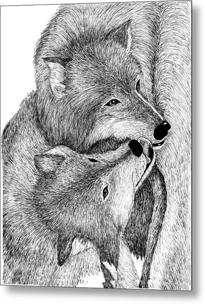 The Kiss Metal Print by Lorraine Foster
