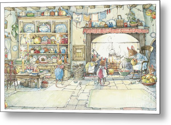 The Kitchen At Crabapple Cottage Metal Print
