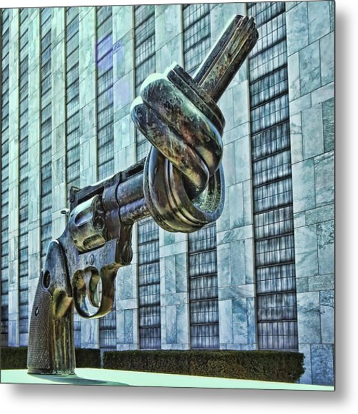 The Knotted Gun Metal Print