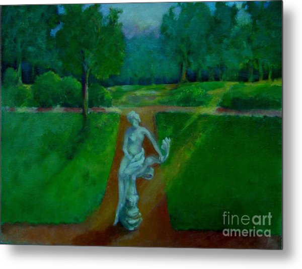 The Lady In The Park     Copyrighted Metal Print by Kathleen Hoekstra