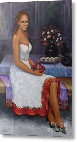 The Lady In Waiting Metal Print