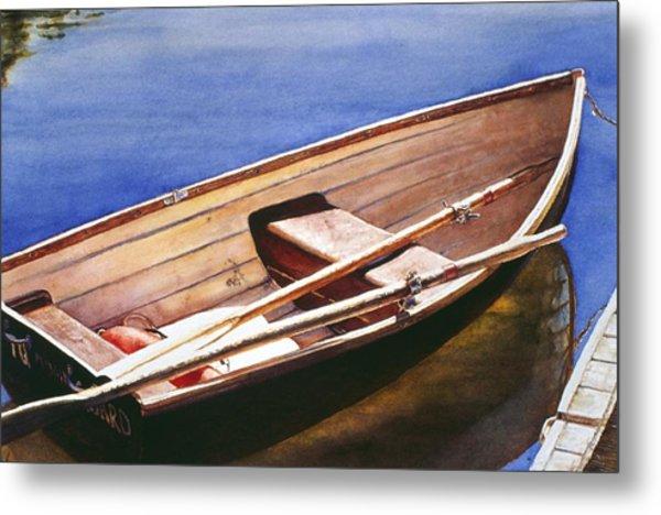 The Lake Boat Metal Print