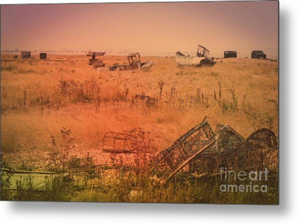 The Landscape Of Dungeness Beach, England 2 Metal Print