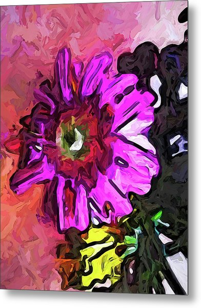 The Lavender Flower Above The Yellow Flower Metal Print